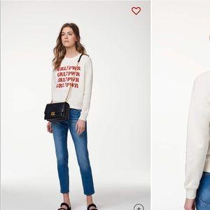 Rebecca Minkoff Grl Pwr sweatshirt size small